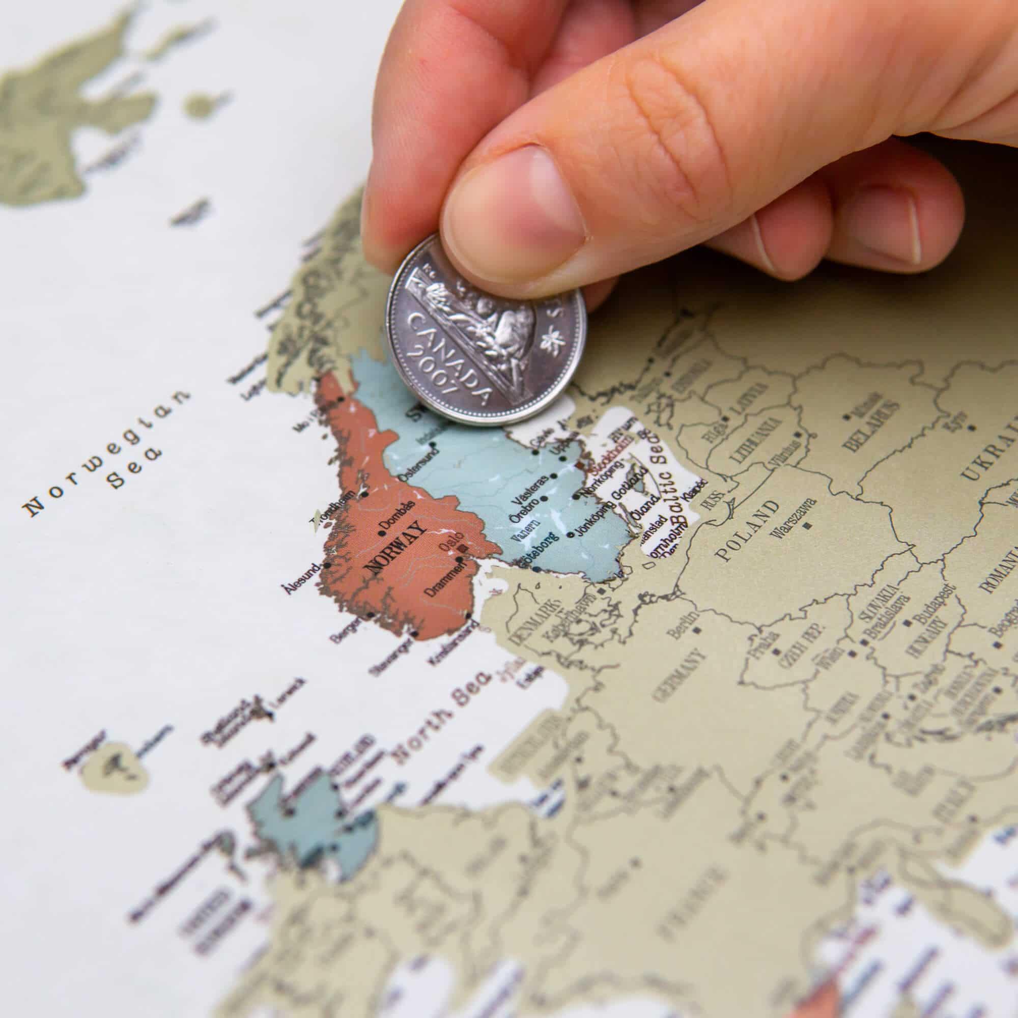 Nutrinamas pasaulio zemelapis compass kaina