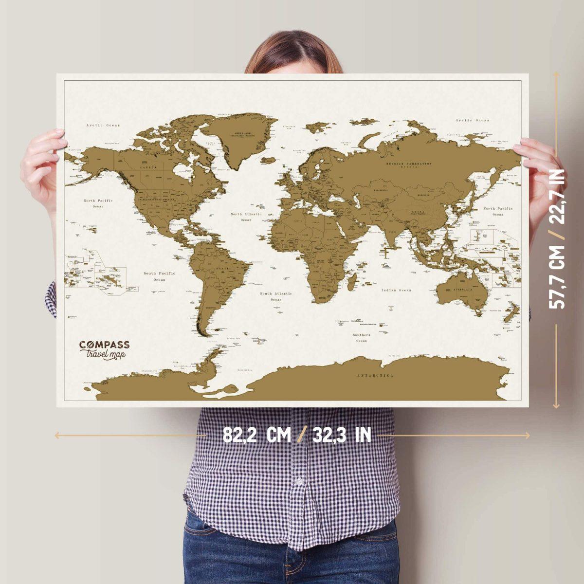 didelis pasaulio zemelapis nutrinamas