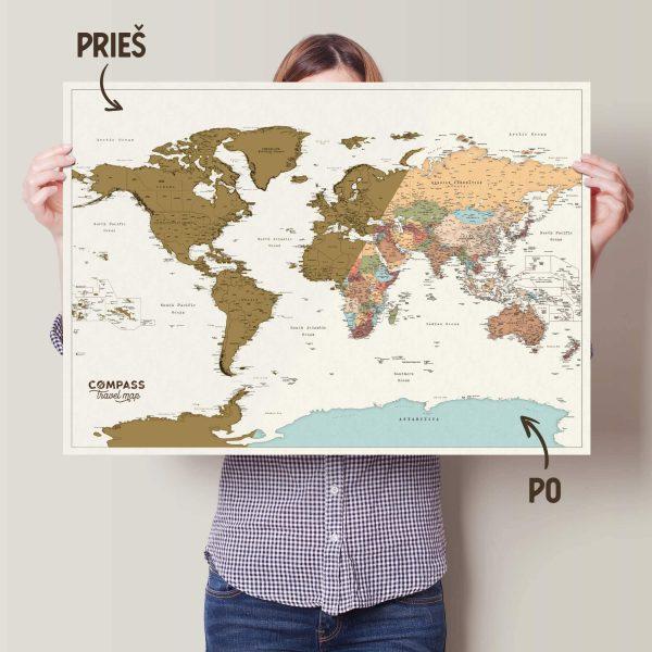 sieninis nutrinamas pasaulio zemelapis didelis