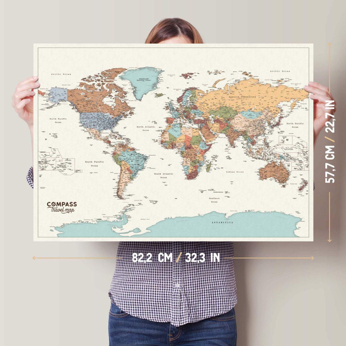 zemelapis nutrinamas pasaulio didelis